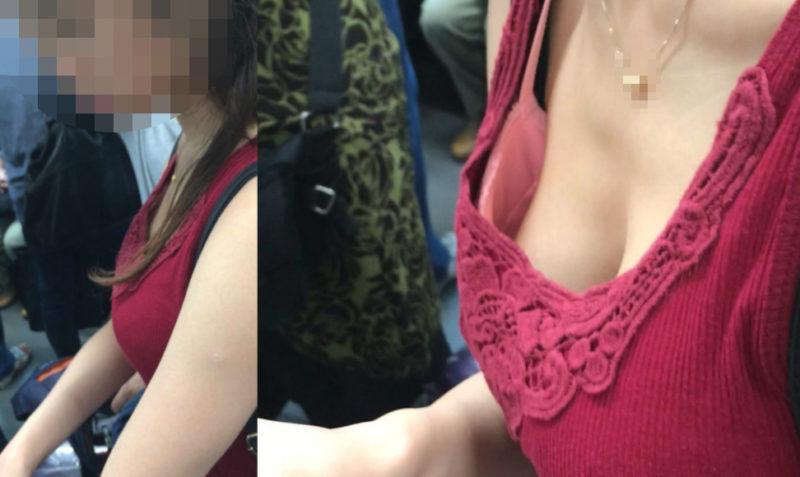 【Pcolle】[胸チラ]家族旅行帰りの爆乳女子[顔有]【ぱゆぱゆ】