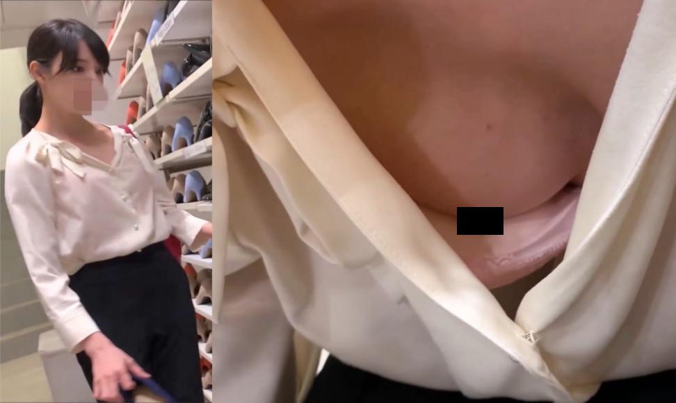 【Pcolle】【素人乳首チラ】ハーフ系美女のおっぱいを舐めるように盗撮!!そして執念の乳首ゲットオオオオ!!!【満座】