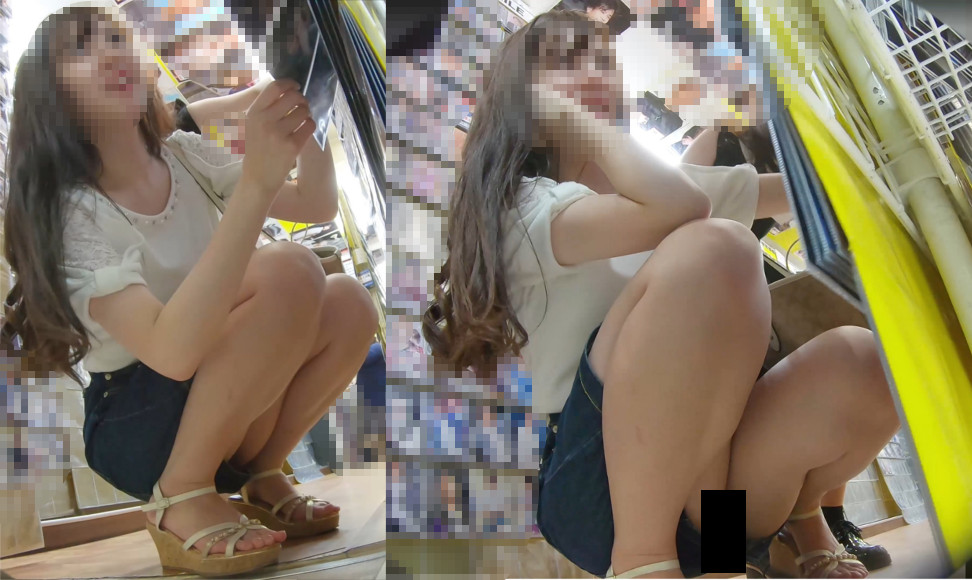 【Pcolle】座りでパンツまで撮られて睨みつけてくる女の子が最高に抜けるw【わんぱく液】